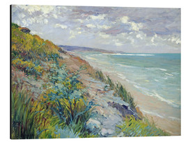 Alubild  Klippen am Meer in Trouville - Gustave Caillebotte
