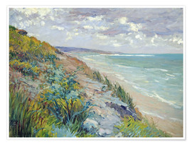 Premium-Poster  Klippen am Meer in Trouville - Gustave Caillebotte