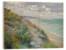 Holzbild  Klippen am Meer in Trouville - Gustave Caillebotte